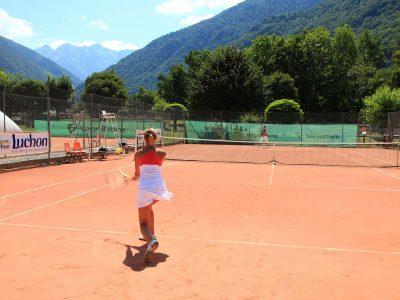 Courts de tennis en terre battue à Luchon