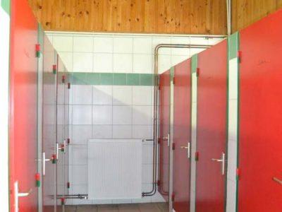 Cabines de toilette du camping